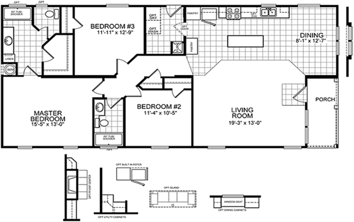 K homes steve kay mobile homes for 24x50 house plans